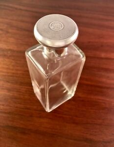 Large Thomas Robert Perry Sterling Silver Perfume Bottle 1922 Art Deco