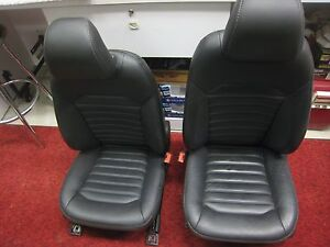 13 16 Fusion Black Leather Power Heated Bucket Interior Seats Left Or Right