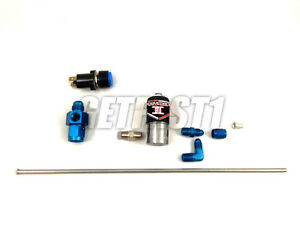 19746 Induction Solutions Nitrous Purge Kit 6 An Manifold Blue Fittings