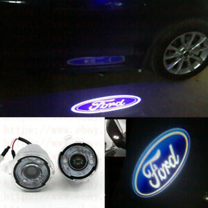 2pcs Rearview Mirror Led 3d Projector Logo Welcome Light For Ford Mondeo 2013 18