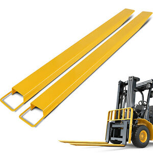 72 X5 Forklift Pallet Fork Extensions Pair Steel Retaining Strap