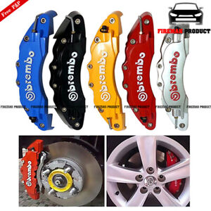 4x 3d Fashion Style Race Brake Caliper Cover Disc Red Car Front Rear Bmw