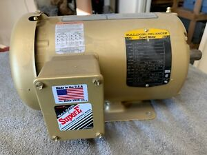 Baldor Reliance Super E Spl 1 5 Hp 3 Phase Electric Motor 1760 Rpm 230 460 145t
