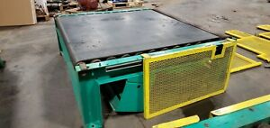 Chain Belt Driven Live Roller Pallet Roll Conveyor 72 X 66 X 22 Rollers 63