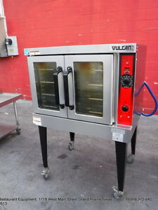 Vulcan Vc4g 11d150k Gas Full Size Convection Oven On Legs With Casters