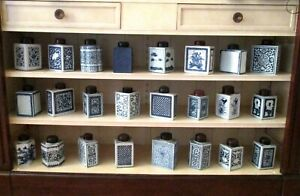 Awesome 18th C Chinese Export Blue And White Tea Caddy Jar You Choose The One