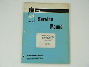 Briggs Stratton Two Cylinder Engine Fuel Electrical Systems Service Manual Vtg