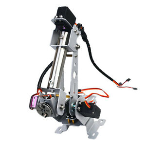 Stainless Steel Desktop Robot Arm Kit With 6 Servos Compatible For Arduino