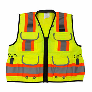 Rk Safety Two Tone Reflective Construction Traffic Emergency Safety Vest lime