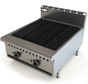 Pantin Commercial 24 Countertop Gas Radiant Grill Charbroiler Charcoal Nsf