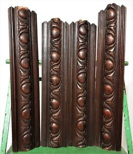 Gothic Trim Decor Furniture Ornament Antique French Wooden Pediment Panel