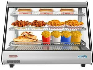 34 Commercial Countertop Food Warmer Display Case Merchandiser 5 6 Cu Ft Led