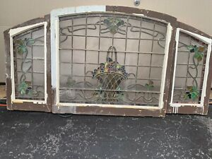 Stained Glass Basket Of Fruit 3 Pc Set