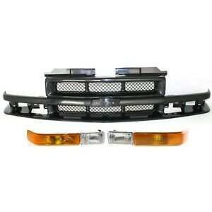 Grille Assembly Kit For 1998 2004 Chevrolet S10 Left And Right 3pc