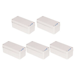 5pcs Abs Enclosure Electronics Box Project Case Shell 3 15x7 09x2 76inch