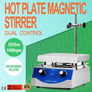 Sh 3 Hot Plate Magnetic Stirrer Mixer Stirring Anodized Aluminium Dual Control