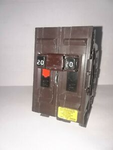 Wadsworth A220ni 2 Pole 20 Amp 120 240v Circuit Breaker Nos