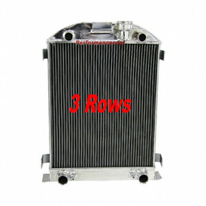 3 Row Core All Aluminum Radiator For 1932 Ford Truck Flathead V8 Engine