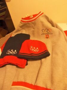USA Olympic Coca Cola Sweatshirt-Knit Scarf and Hat