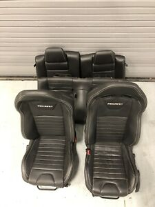 2014 Mustang Factory Recaro Front And Rear Black Leather Seats