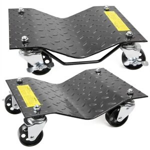 New 1pair Auto Dolly Car Dolly Wheel Tire 12 X16 Skate 3000lb Repair Slide
