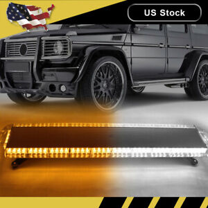 48 88 Led Amber White Emergency Strobe Light Bar Warning Tow Truck Response Us