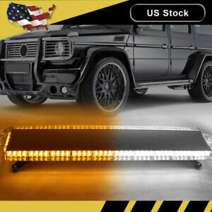 47 88 Led Amber White Emergency Strobe Light Bar Warning Tow Truck Response Us