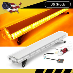 47 Inch 88 Led Amber Emergency Warning Tow Truck Strobe Light Bar Response Flash