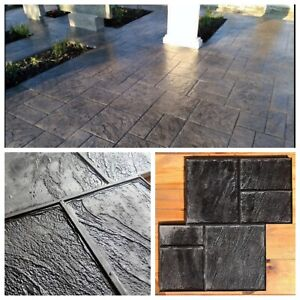 Concrete Texture Stamp Mat Rubber For Printing On Cement old City 2