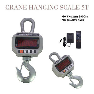Ocs t 5000kg 11 000lb Heavy Duty Digital Crane Hanging Scale Led Display New