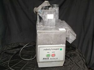 Used Robot Coupe R6x Commercial Food Processor With Slicing Discs
