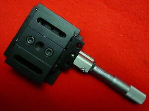 Thorlab Linear Stage Positioner With Micrometer 3 X 3 Platform 1 4 20 Tp