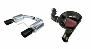 2015 2017 Mustang 3 7 V6 Roush Cold Air Intake Kit Pypes Exhaust W Black Tips