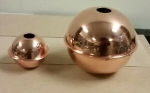 Copper Balls 2 4 Well Made Polished For Weathervanes Lightening Rods