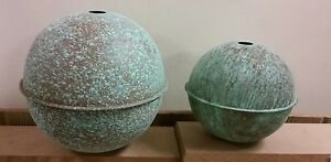 6 And 8 Quality Large Copper Balls For Weathervanes Or Lightening Rods
