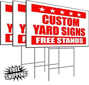 100 Custom Yard Signs 24 X 18 Corrugated Political Bandit Signs Free Stakes
