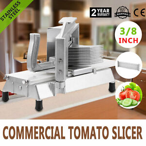 Commercial Fruit Tomato Slicer 3 8 cutting Machine Vegetable Blade Equipment