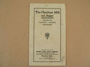 Vtg Chatham Mill Bagger Owners Operators Manual Parts List Monmouth Plow Il