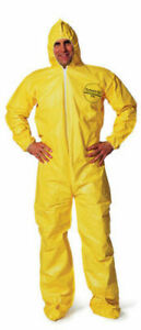 Yellow Chemical Hazmat Suit Coverall All Sizes New In Bag