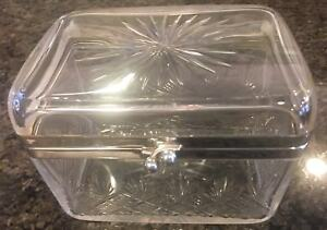 Wmf Antique Cut Crystal Box With Silverplate Mounts Gorgeous Design Excellent