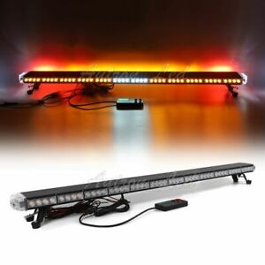 55 Amber Led Emergency Back W Brake Turn Lights Truck Wrecker Strobe Lightbar