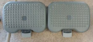 Vtg Newell Set Of 2 Foot Rests Under Desk Adjustable Height Portable Comfort
