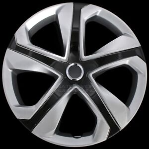 16 Set Of 4 Silver Black Wheel Covers Snap On Hub Caps Fit R16 Tire