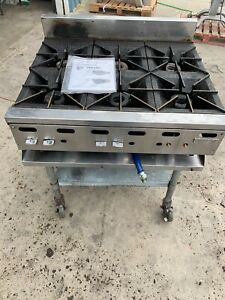 Nsf Vulcan 6 Burner Range Natural Gas Hot Plate Model Vhp636 1 With Stand