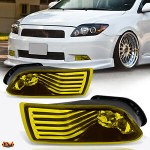 For 05 10 Scion Tc Amber Lens Front Bumper Driving Fog Light lamp switch Pair