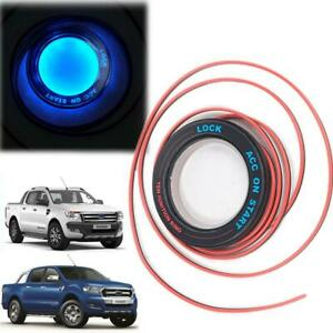 Fit 2011 2018 Ford Ranger Ignition Switch On Key Hole Ring Cover Dark Blue