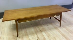 Paul Mccobb Solid Maple Coffee Cocktail Table W Drawer Mid Century Modern Mcm