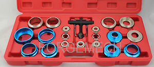 Crank Oil Seal Remover Tool Set Kit 21pc Universal Seals 27mm 58mm Crankshaft