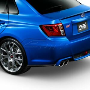 Fit 2011 2014 Subaru Impreza Wrx Sti Style Rear Bumper Aero Side Aprons Lip 2pcs