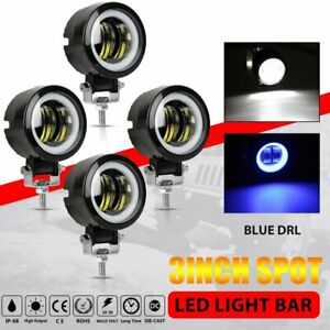 4x 3 Inch 40w Round Led Work Light Bar Spot Driving Lamp Drl Offroad Motorcycle